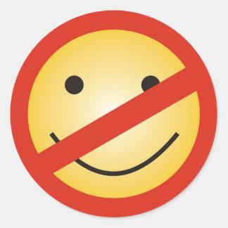 No Smile Zone Classic Round Sticker