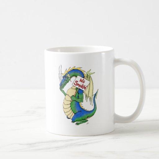 No Smokin' Classic White Coffee Mug