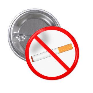 No Smoking 1 Inch Round Button