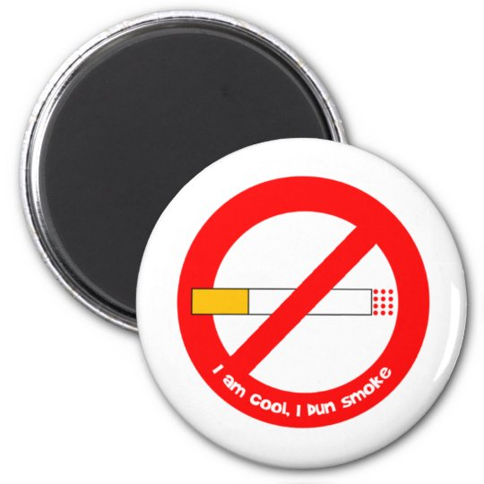No Smoking 2 Inch Round Magnet