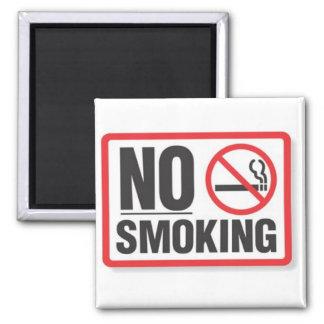 No Smoking 2 Inch Square Magnet