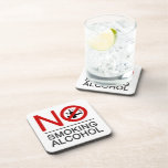 NO Smoking Alcohol ⚠ Thai Sign ⚠ Beverage Coasters