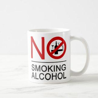 NO Smoking Alcohol ⚠ Thai Sign ⚠ Coffee Mug