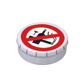 NO Smoking Alcohol ⚠ Thai Sign ⚠ Jelly Belly Tins