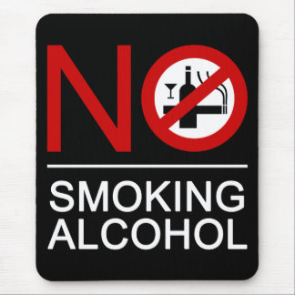 NO Smoking Alcohol ⚠ Thai Sign ⚠ Mouse Pad