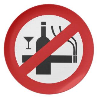 NO Smoking Alcohol ⚠ Thai Sign ⚠ Plate
