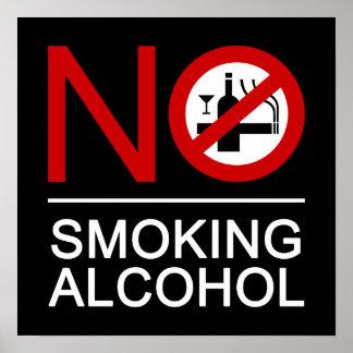 NO Smoking Alcohol ⚠ Thai Sign ⚠ Print