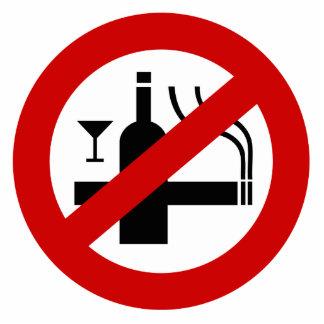 NO Smoking Alcohol ⚠ Thai Sign ⚠ Statuette