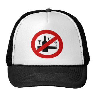 NO Smoking Alcohol ⚠ Thai Sign ⚠ Trucker Hat