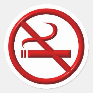 No Smoking / Anti-Smoking Classic Round Sticker