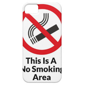 No Smoking Area iPhone 5 Covers