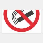 No Smoking Area Rectangle Sticker
