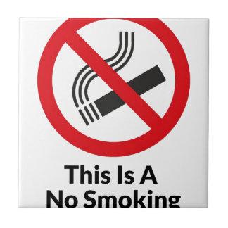 No Smoking Area Tile