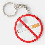 No Smoking Basic Round Button Keychain