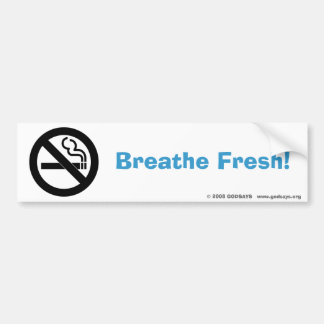 No Smoking Bumper Sticker