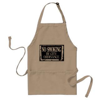 No Smoking By City Ordinance Apron
