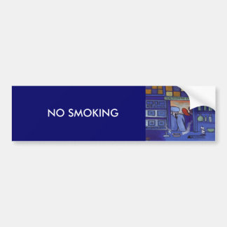 NO SMOKING CAR BUMPER STICKER