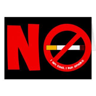No Smoking Card