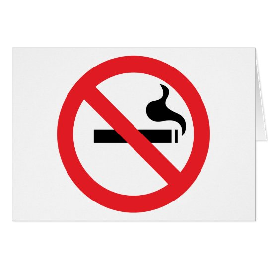 No Smoking Card