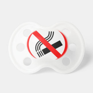 NO SMOKING CAUSES HEALTH WARNING SAFETY LOVE MOTIV BooginHead PACIFIER