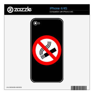 NO SMOKING CAUSES HEALTH WARNING SAFETY LOVE MOTIV DECAL FOR iPhone 4S