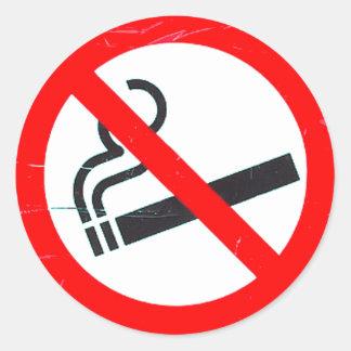 No smoking classic round sticker