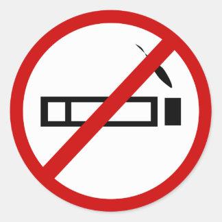 no-smoking classic round sticker