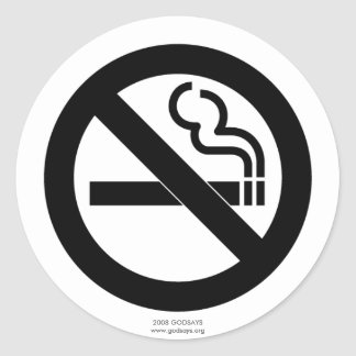 No Smoking Classic Round Sticker