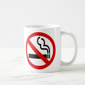 No Smoking Coffee Mugs