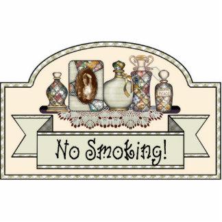 """""""No Smoking"""" - Decorative Door Sign Cutout"""