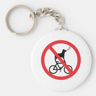 No Smoking Dogs on Bikes Keychain
