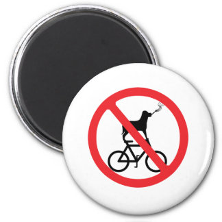 No Smoking Dogs on Bikes Magnet