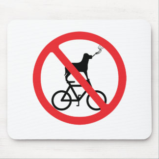 No Smoking Dogs on Bikes Mouse Pad