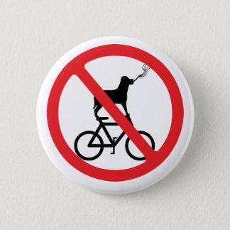 No Smoking Dogs on Bikes Pinback Button