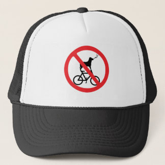 No Smoking Dogs on Bikes Trucker Hat