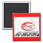 """"""" NO SMOKING """" FRIDGE MAGNET"""