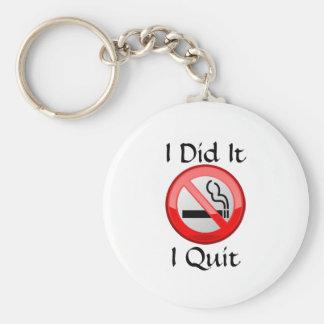 No Smoking I Quit Basic Round Button Keychain
