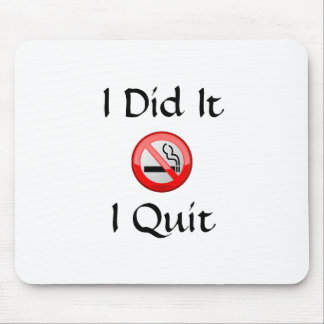 Quit Smoking Mouse Pads and Quit Smoking Mousepad Designs