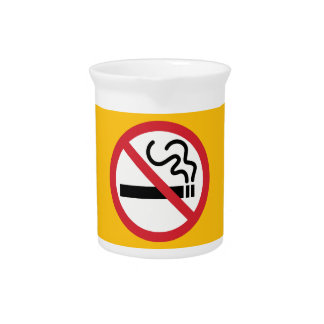 No Smoking Icon Drink Pitcher