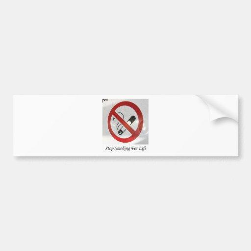 No Smoking In My Space Bumper Sticker