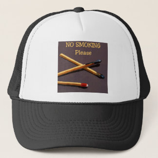 NO SMOKING: MATCHES: REALISM ART TRUCKER HAT