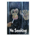 No Smoking Monkey Poster