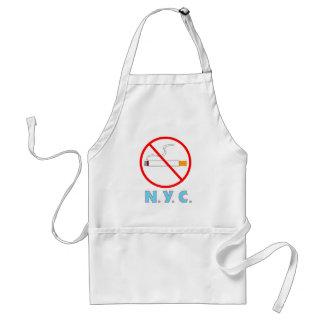 No Smoking New York City Sign Adult Apron