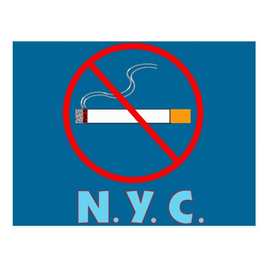 No Smoking New York City Sign Postcard