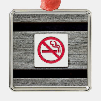 No Smoking Christmas Tree Ornament
