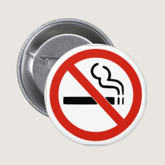 No Smoking Pinback Button