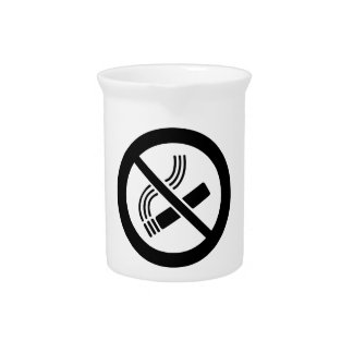No Smoking Pitcher