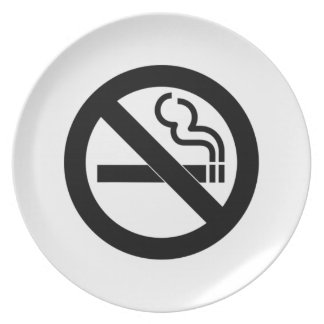 No Smoking Dinner Plates