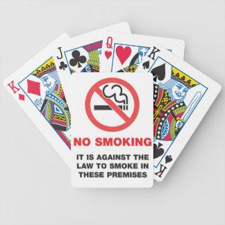 No Smoking Playing Cards