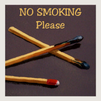 NO SMOKING POSTER: ART: REALISM POSTER